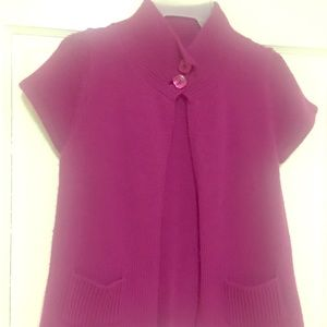 Pretty hot pink open front two buttoned cardigan